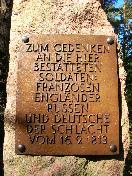Plate on soldiers' mass grave
